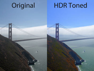 Before and After with HDR Toning in Photoshop CS5