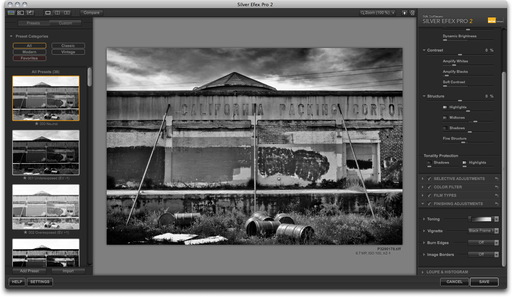Silver Efex Pro 2 Interface