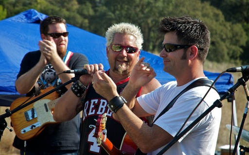 Guy Fieri and Pete Stringfellow