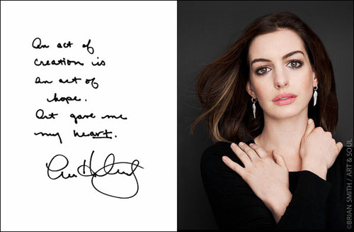 Anne Hathaway photographed by Brian Smith