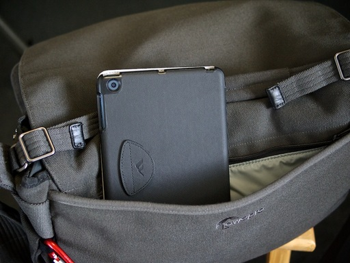 iPad in Lowepro Pro Messenger camera bag