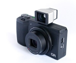 Ricoh GR with Olympus Optical Viewfinder