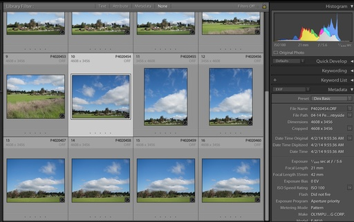 Lightroom 5.4 with the OM-D E-M10