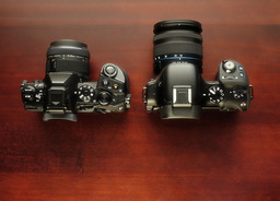 Olympus E-M1 and the Samsung NX30